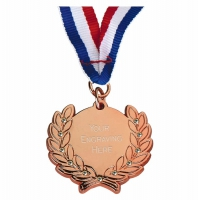 Diamond Bling Medal with Ribbon Bronze 45 x 41mm