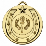 Target50 Horse Shoe Medal - Gold - 50mm- New 2018
