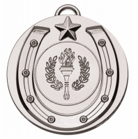 Target50 Horse Shoe Medal - Silver - 50mm- New 2018