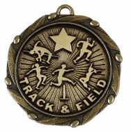 Combo45 Track & Field - Gold FREE Red White and Blue Ribbon - 45mm diameter- New 2018