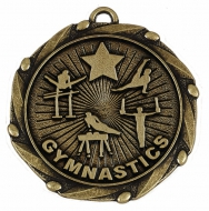 Combo45 Gymnastics Male - Gold FREE Red White and Blue Ribbon - 45mm diameter- New 2018