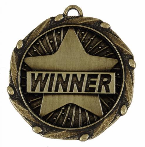Combo45 Winner - Gold FREE Red White and Blue Ribbon - 45mm diameter- New 2018
