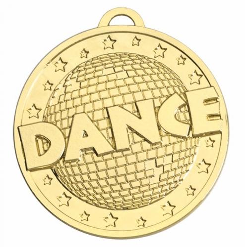 Target50 Dance Medal - Gold - 50mm- New 2018