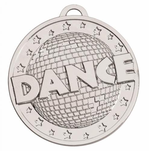 Target50 Dance Medal - Silver - 50mm- New 2018
