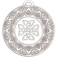 Target50 Celtic Medal - Silver - 50mm- New 2018