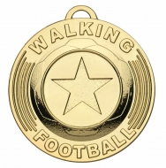 Target50 Walking Football Trophy Award Medal - Gold - 50mm diameter- New 2018