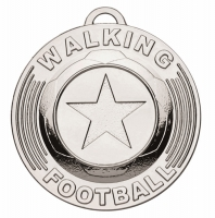 Target50 Walking Football Trophy Award Medal - Silver - 50mm diameter- New 2018
