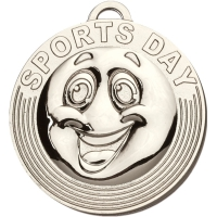 Target Sports Day Medal - Silver - 50mm diameter- New 2018