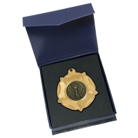 VF50 Tudor Rose Medal & Case 1 - Gold - 50mm diameter- New 2018