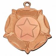 VF Tudor Rose Medal - Bronze - 50mm diameter- New 2018
