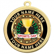 Personalised Sports Day Medal 2 3 8 inch (60mm) Diameter : New 2019