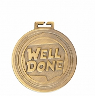 Aura Well Done Medal 2 Inch (50mm) Diameter : New 2019