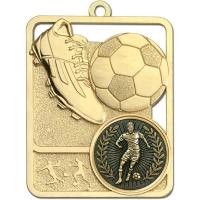 Football Trophy Award Boot & Ball Medal - Gold - 62mm height- New 2018