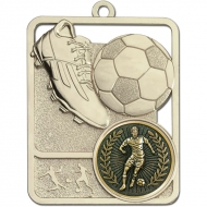 Football Trophy Award Boot & Ball Medal - Silver - 62mm height- New 2018
