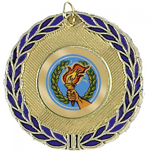 BlueWreath50 Medal Gold 50mm