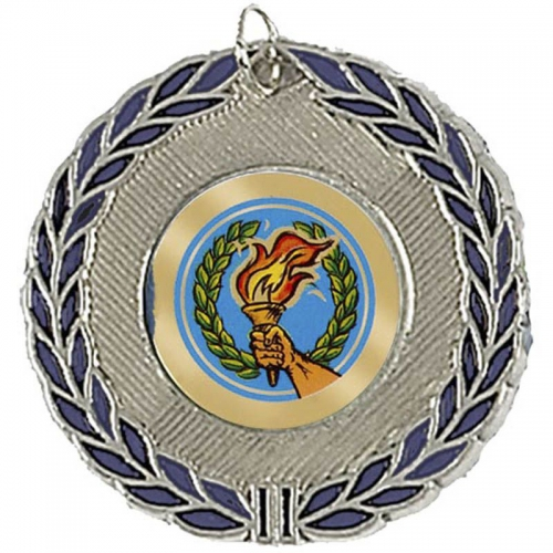 BlueWreath50 Medal Silver 50mm