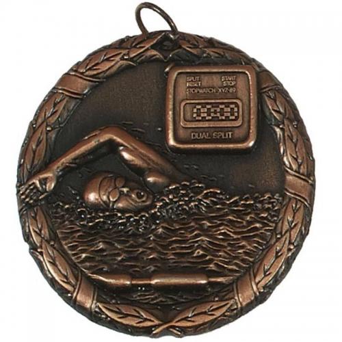 Laurel50 Swimming Medal Bronze 50mm