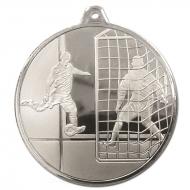 Frosted Glacier Footballer Medal Silver 50mm
