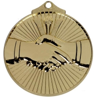 Horizon52 Hand Shake Medal Gold 52mm