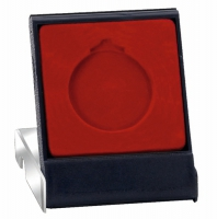 VIP40 Medal Case Black/Red 40mm