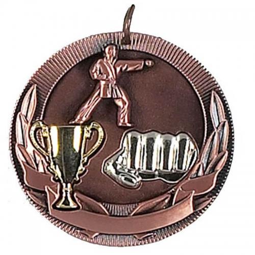 Highlight50 Karate Medal Bronze 50mm
