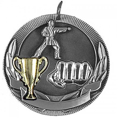 Highlight50 Karate Medal Silver 50mm