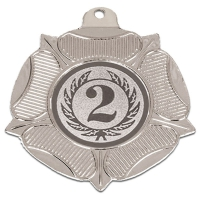 VF50 Tudor Rose Medal Silver 50mm
