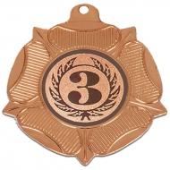 VF50 Tudor Rose Medal Bronze 50mm