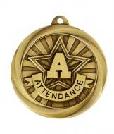 Globe Medal Award attendance 2 Inch (50mm) Diameter : New 2020