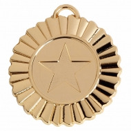 Rosette Medal 1 3/8 Inch (45mm) Diameter : New 2020