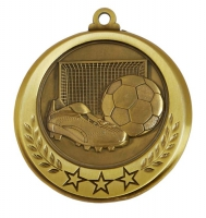 Spectrum Football Medal Award 2.75 Inch (70mm) Diameter : New 2020