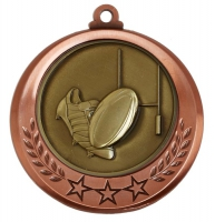 Spectrum Rugby Medal Award 2.75 Inch (70mm) Diameter : New 2020