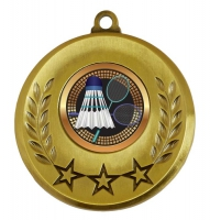 Spectrum Badminton Medal Award 2 Inch (50mm) Diameter : New 2020