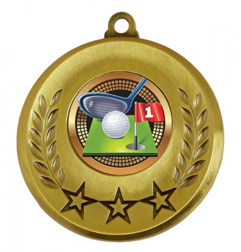 Spectrum Golf Medal Award 2 Inch (50mm) Diameter : New 2020