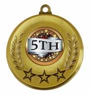 Spectrum 5th Place Medal Award 2 Inch (50mm) Diameter : New 2020
