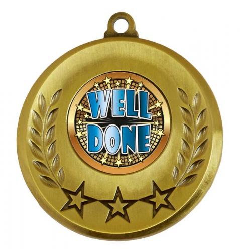 Spectrum Well Done Medal Award 2 Inch (50mm) Diameter : New 2020