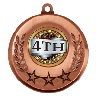 Spectrum 4th Place Medal Award 2 Inch (50mm) Diameter : New 2020