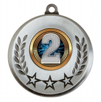 Spectrum 2nd Place Medal Award 2 Inch (50mm) Diameter : New 2020