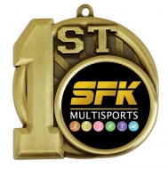 Sports Logo Medal Award 1st Place 2.75 Inch (70mm) Diameter : New 2020