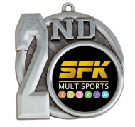 Sports Logo Medal Award 2nd Place 2.75 Inch (70mm) Diameter : New 2020