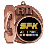 Sports Logo Medal Award 3rd Place 2.75 Inch (70mm) Diameter : New 2020