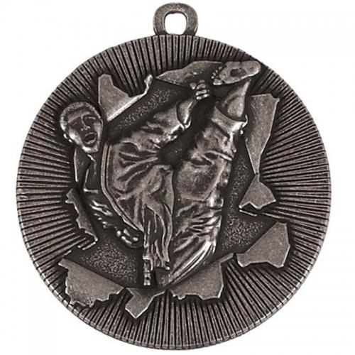 X-Plode50 Karate Medal Silver 50mm