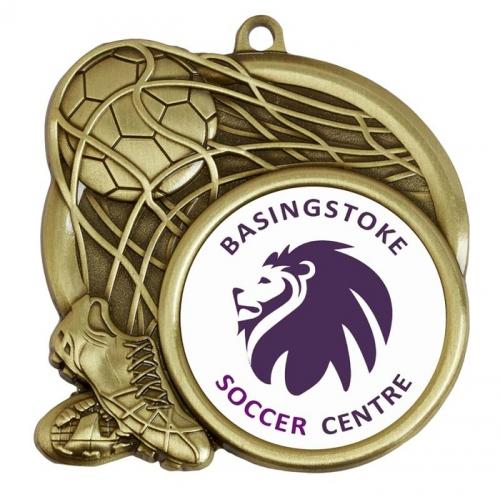 Sports Logo Medal Award Football 2.75 Inch (70mm) Diameter : New 2020