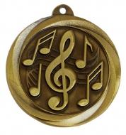 Globe Medal Award Music 2 Inch (50mm) Diameter : New 2020