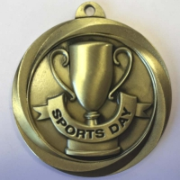 Globe Medal Award Sports Day 2 Inch (50mm) Diameter : New 2020