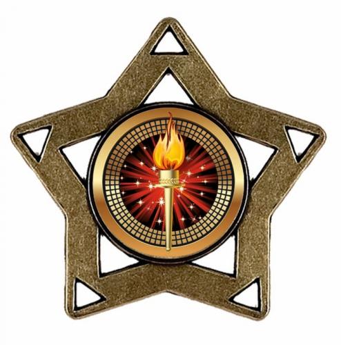 Mini Star Medal Bronze 60mm