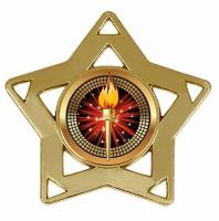 Mini Star Medal Gold 60mm