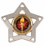 Mini Star Medal Silver 60mm