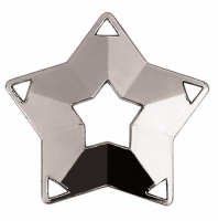 Mini Star Medal Silver 60mm