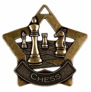 Mini Star Chess Medal Bronze 60mm